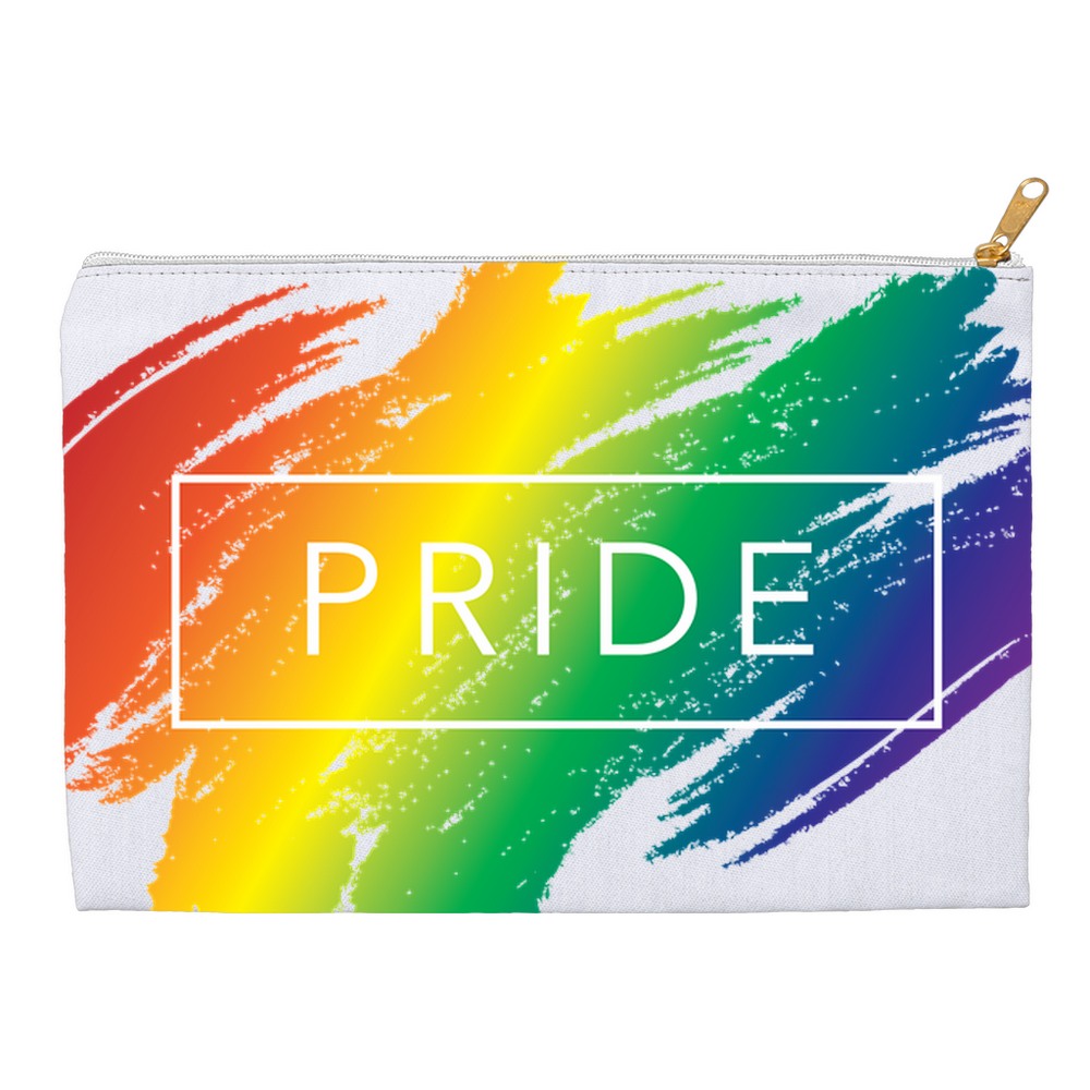 rainbow pride accessory pouches - above the curve;