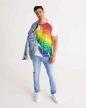 rainbow pride men's tee - above the curve;