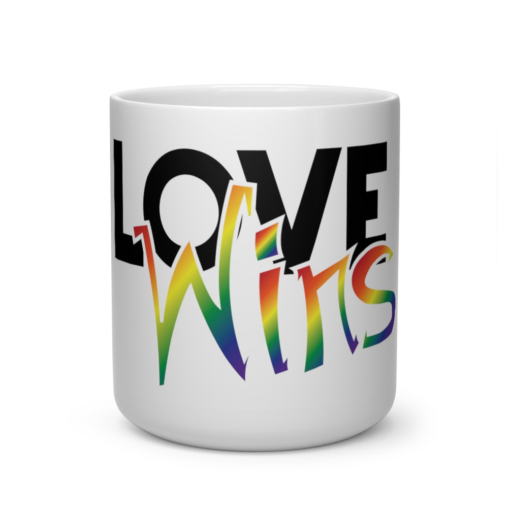 Load image into Gallery viewer, love wins heart shape mug - above the curve;