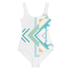 aztec hipster all-over youth on-piece swimsuit - above the curve;