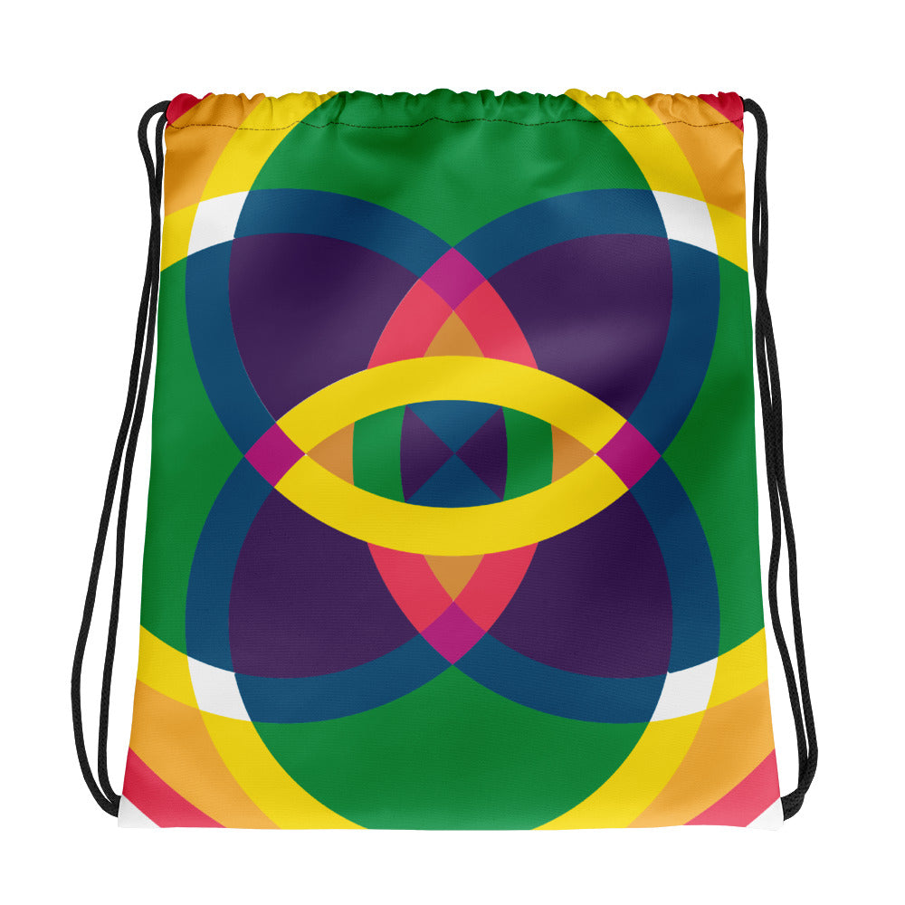 mandala 2.0 drawstring bag