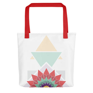 abstract hipster tote bag - above the curve;