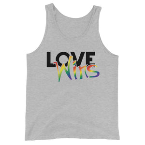 love wins unisex tank top - above the curve;