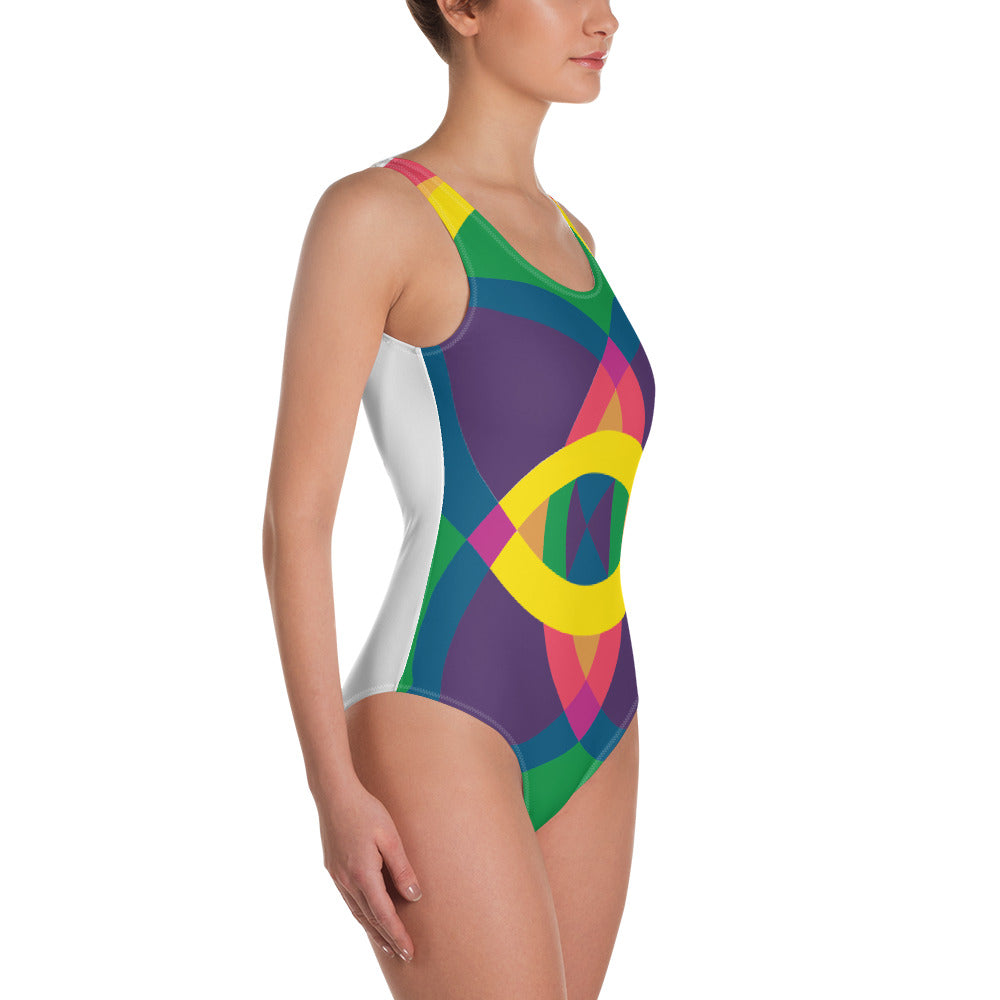 mandala 2.0 one-piece swimsuit - above the curve;