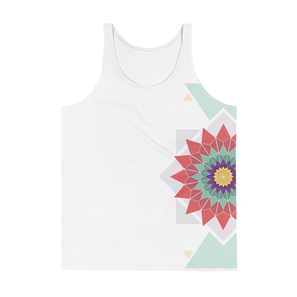 abstract hipster unisex all-over tank top - above the curve;