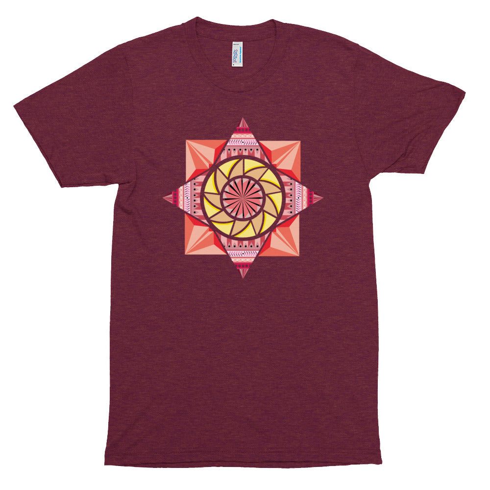 aztec kaleidoscope unisex tri-blend track shirt - above the curve;