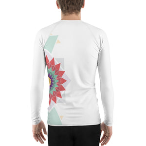 Load image into Gallery viewer, abstract hipster men's rash guard - above the curve;