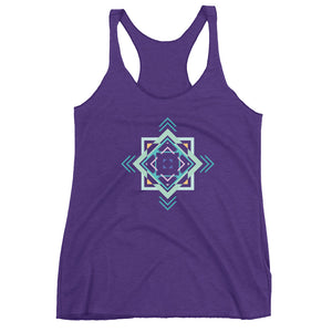 aztec hipster women's racerback tank - above the curve;