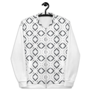 Load image into Gallery viewer, four corner's unisex bomber jacket - above the curve;