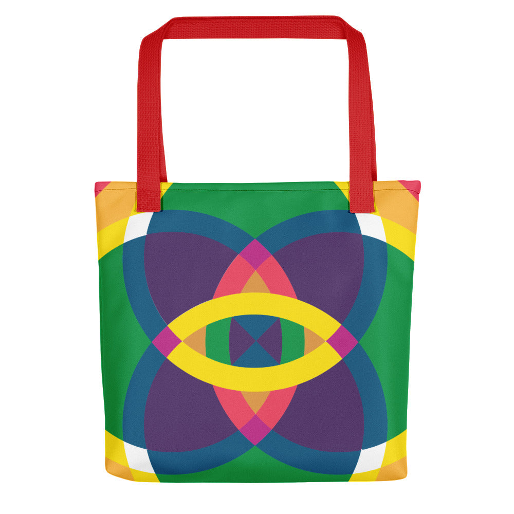 Load image into Gallery viewer, mandala 2.0 tote bag - above the curve;