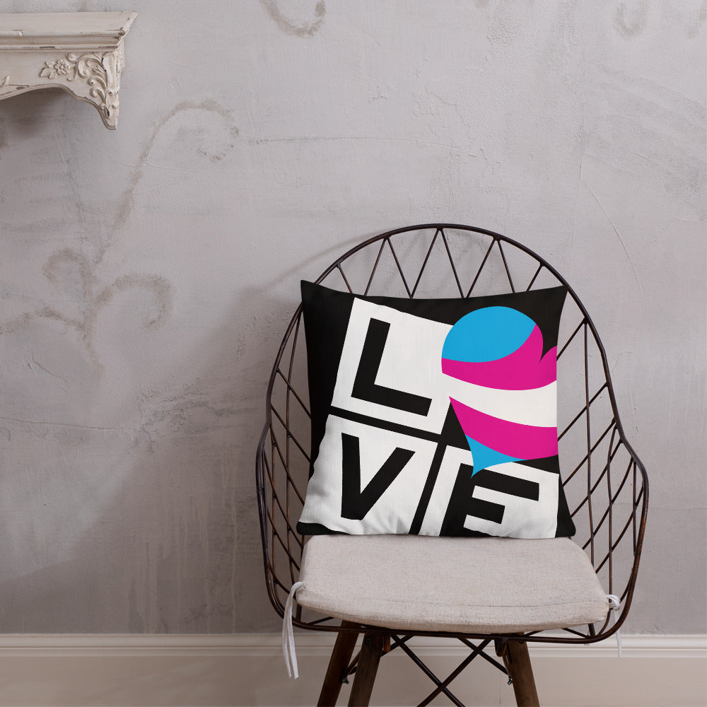 trans love premium pillow - above the curve;