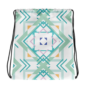 Load image into Gallery viewer, aztec hipster drawstring bag - above the curve;