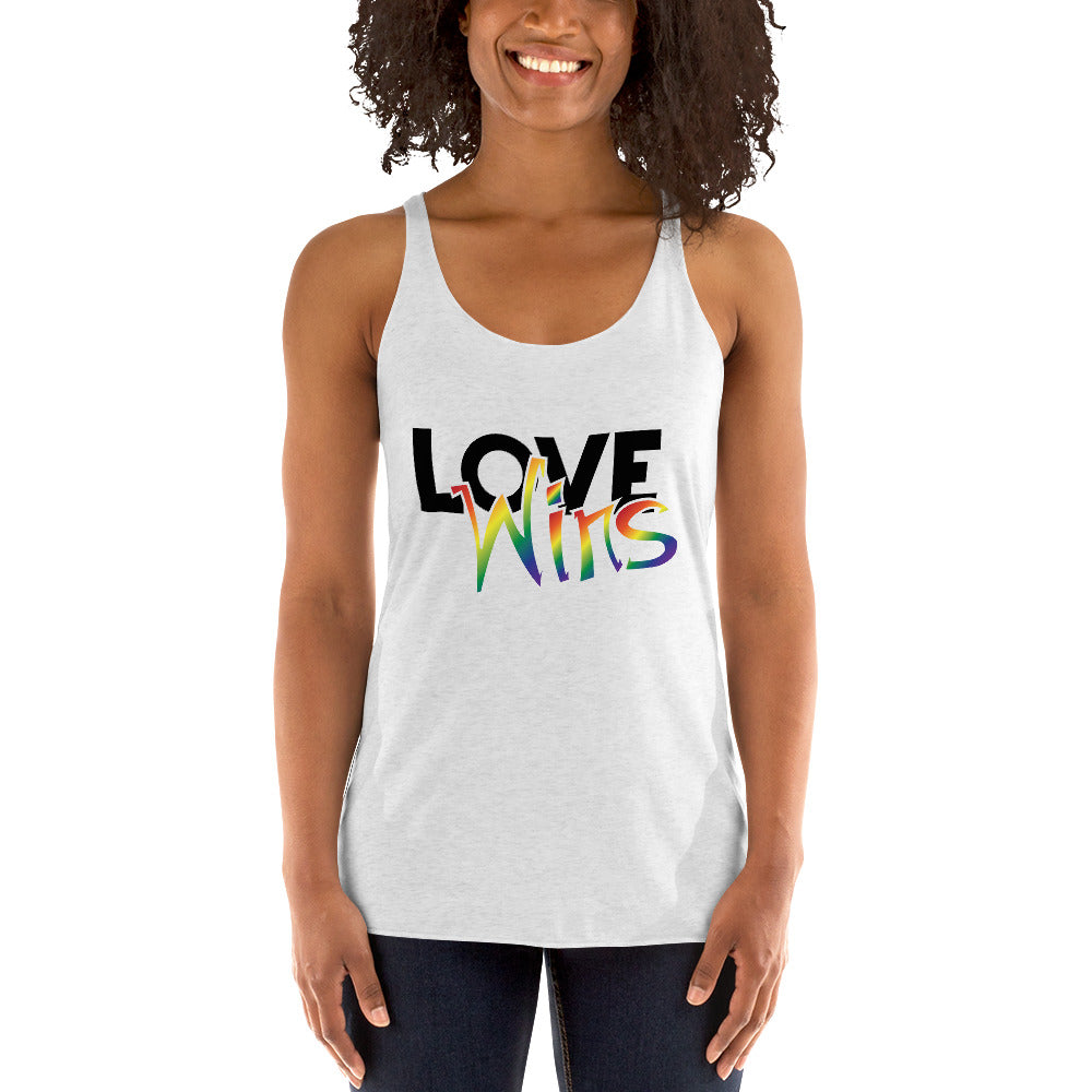 love wins women's racerback tank - above the curve;