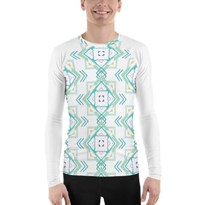 Load image into Gallery viewer, aztec hipster men's rash guard - above the curve;