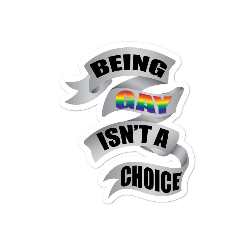being gay bubble-free stickers