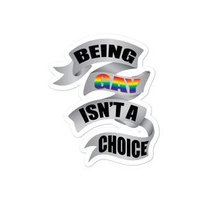 Load image into Gallery viewer, being gay bubble-free stickers - above the curve;