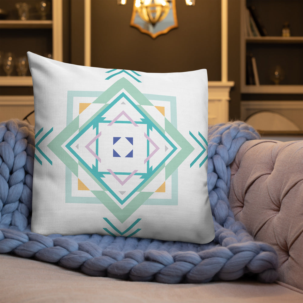 aztec hipster premium pillow - above the curve;