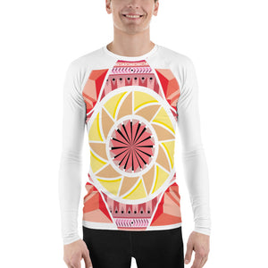 aztec kaleidoscope men's rash guard - above the curve;