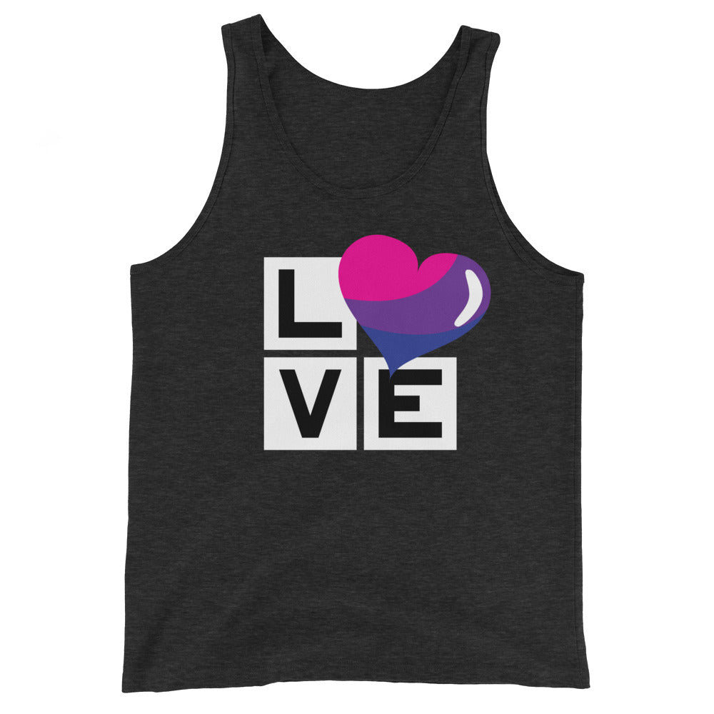 bisexual love unisex tank top - above the curve;