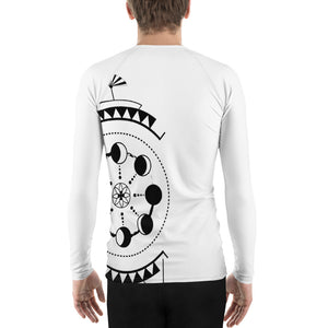 dream eclipse men's rash guard - above the curve;