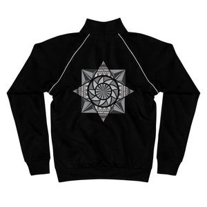 aztec kaleidoscope piped fleece jacket - above the curve;
