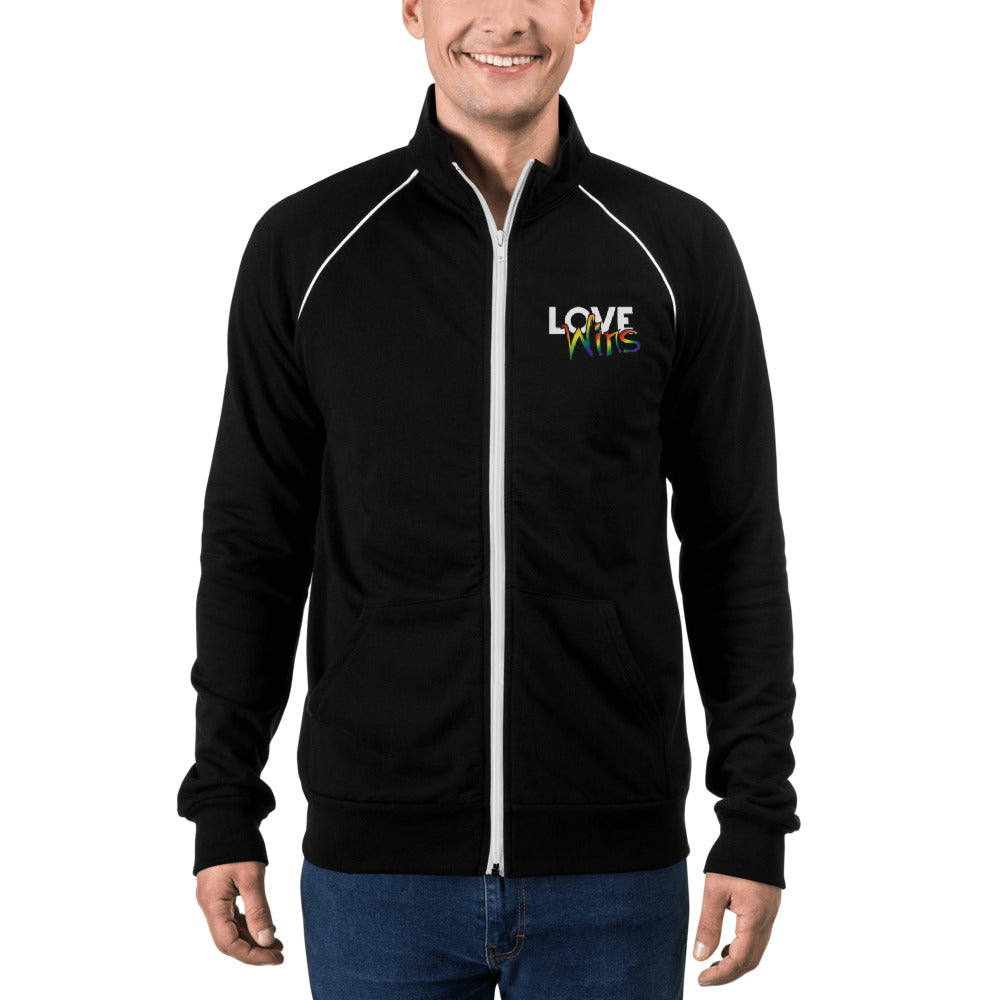 Load image into Gallery viewer, men's piped fleece jacket - above the curve;