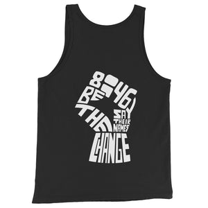love wins BLM unisex tank top - above the curve;