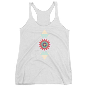 abstract hipster women's racerback tank - above the curve;