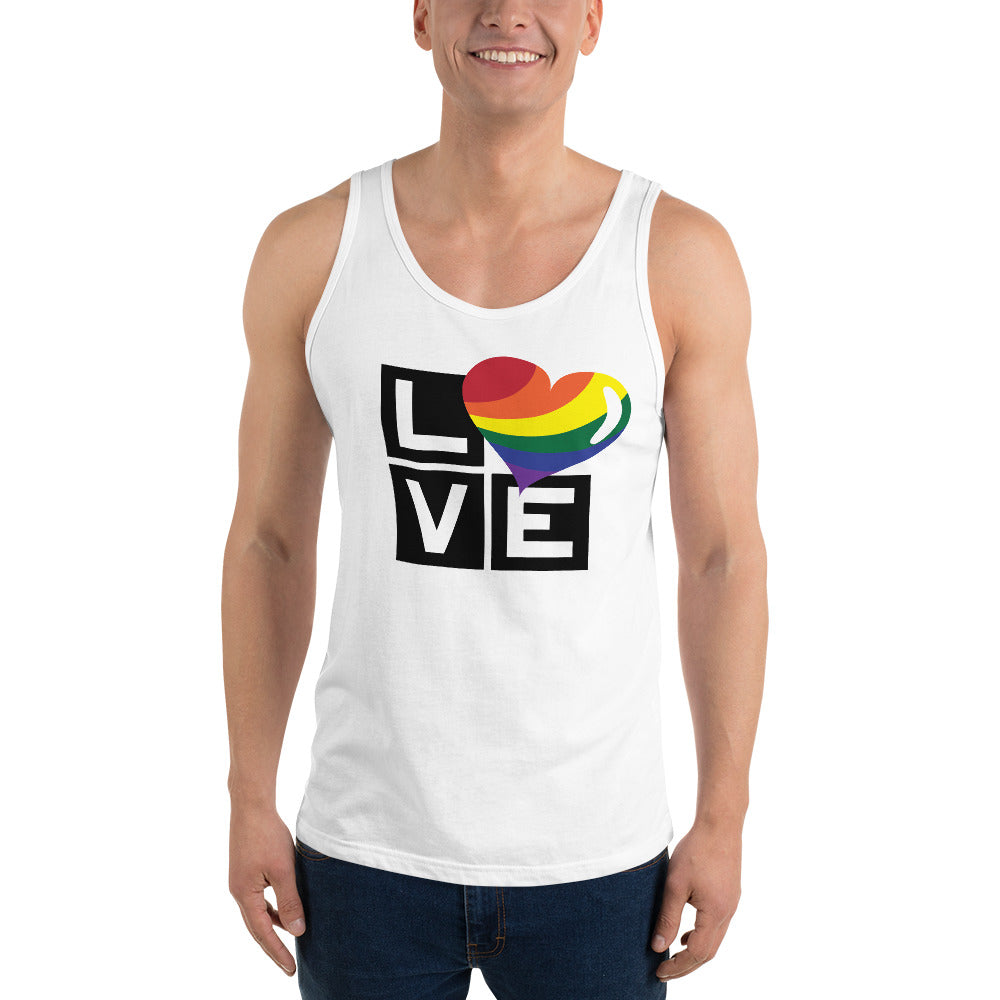 rainbow love unisex tank top