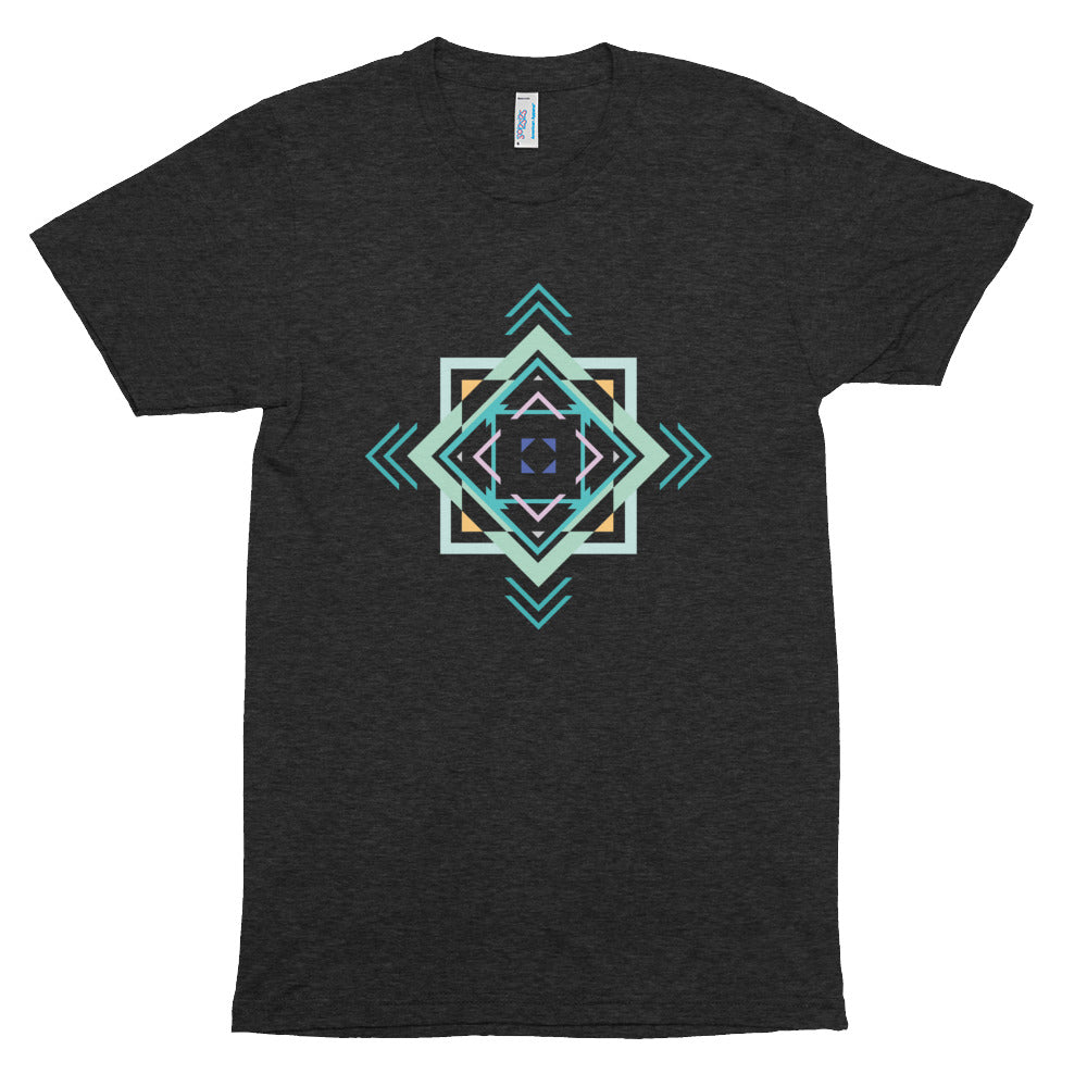 aztec hipster unisex tri-blend track shirt - above the curve;