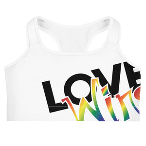 love wins sports bra - above the curve;