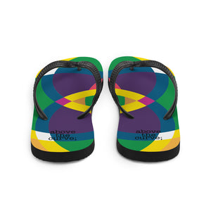 Load image into Gallery viewer, mandala 2.0 flip-flops - above the curve;