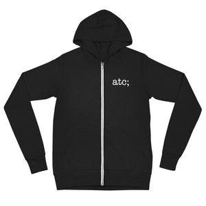 atc; unisex zip hoodie - above the curve;