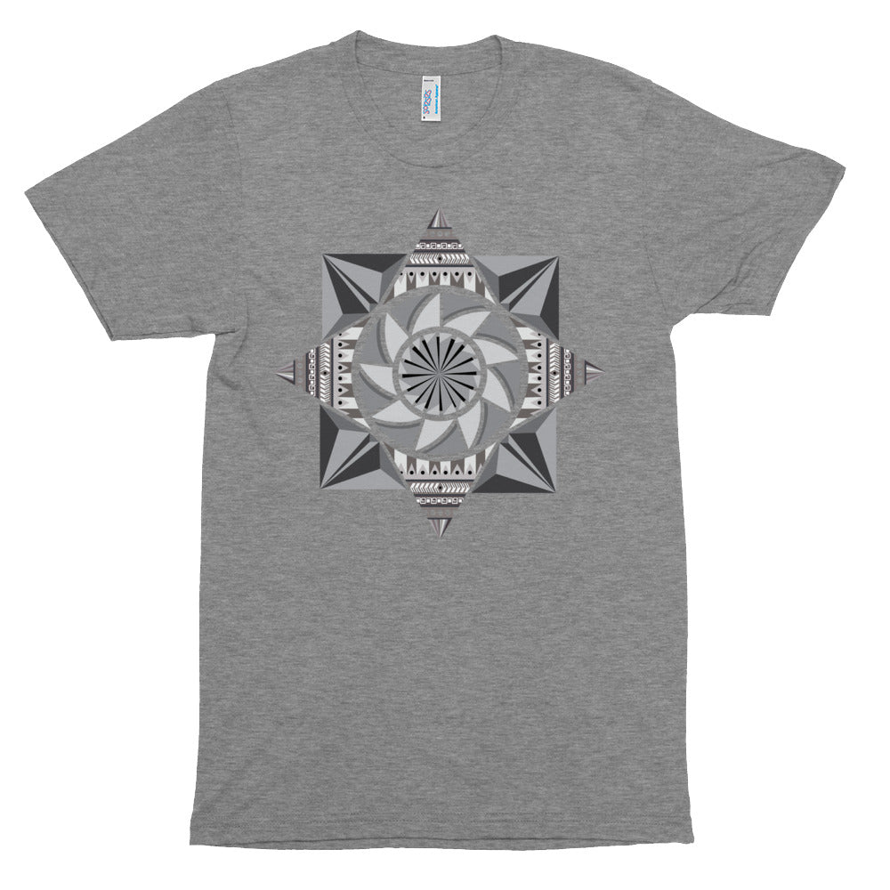 Load image into Gallery viewer, aztec kaleidoscope unisex tri-blend track shirt - above the curve;