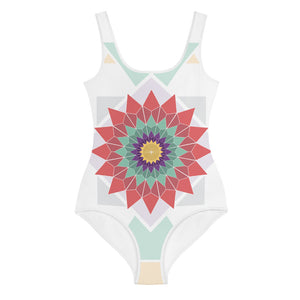 abstract hipster all-over print youth swimsuit - above the curve;