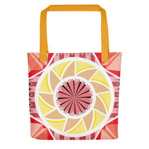 aztec kaleidoscope tote bag - above the curve;