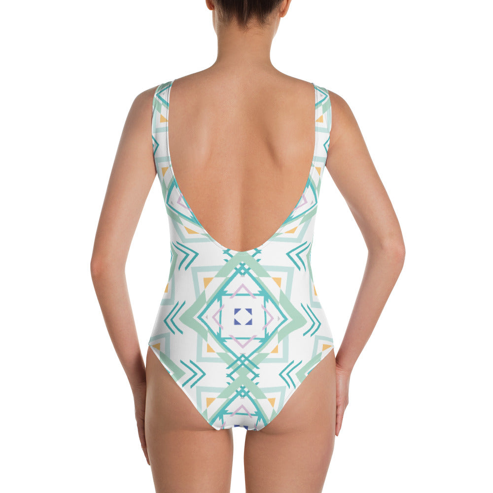 Load image into Gallery viewer, aztec hipster women's one-piece swimsuit - above the curve;