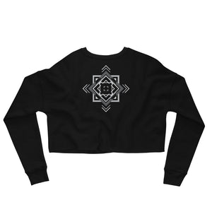 Load image into Gallery viewer, aztec hipster crop sweatshirt - above the curve;