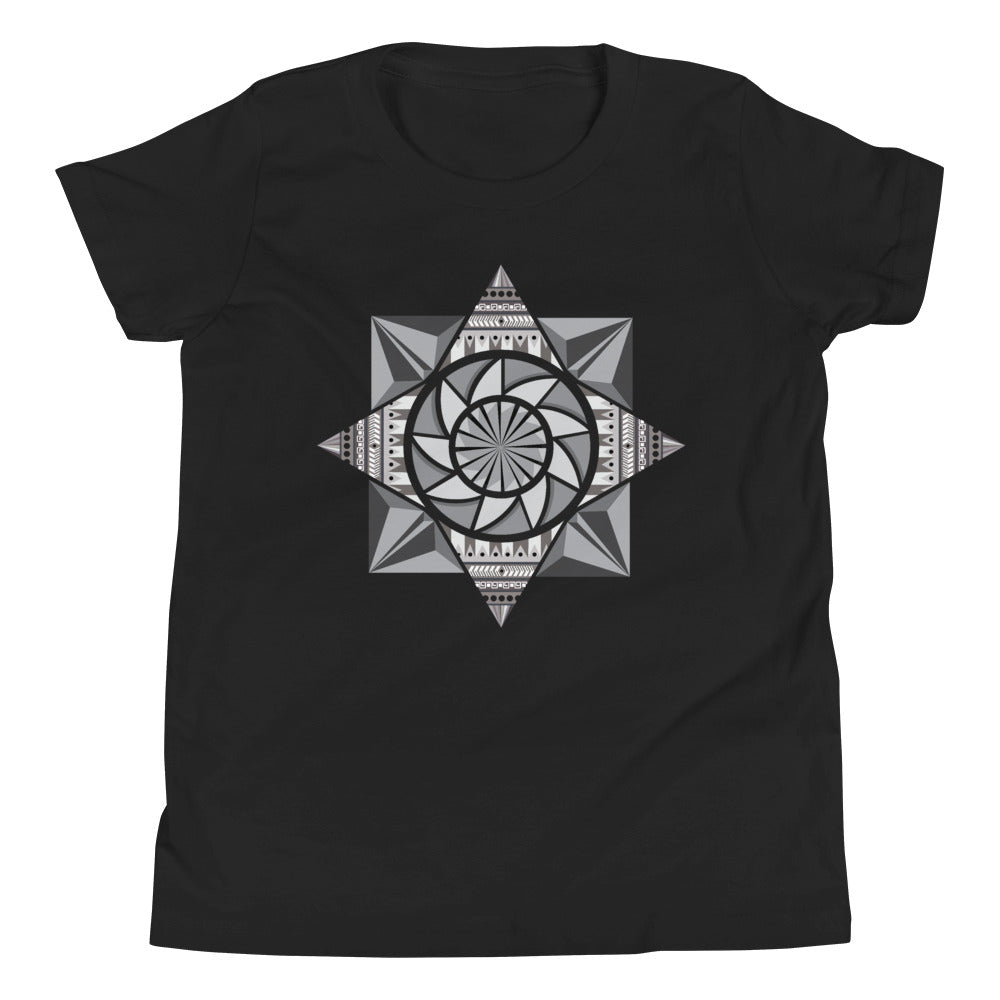 aztec kaleidoscope youth short sleeve t-shirt - above the curve;