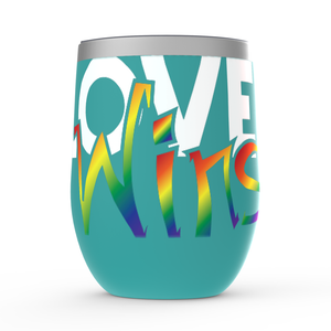 love wins stemless wine tumblers - above the curve;