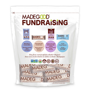 madegood fundraising bag filled with chocolate chip granola bars