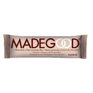 individual madegood chocolate chip granola bar in wrapper