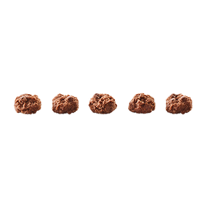five madegood double chocolate mini cookies out of their package