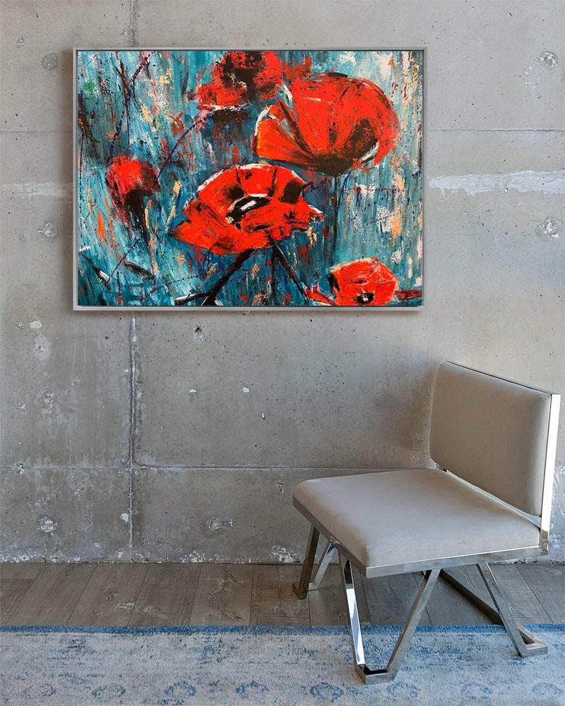 Yasemen Asad Wall Art Red Flowers