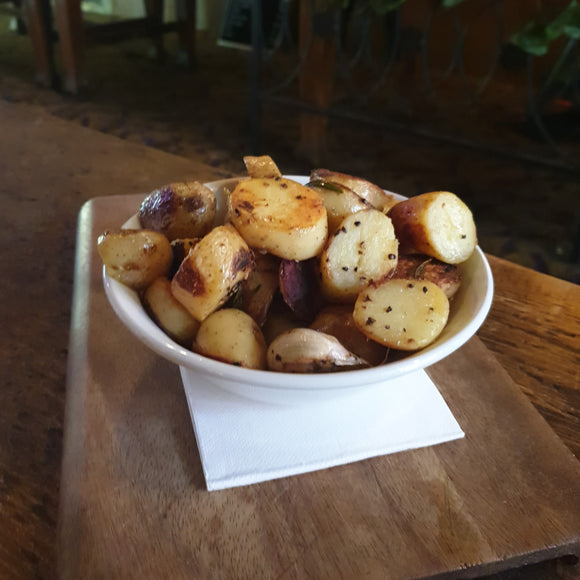 PAN FRIED KIPFLER POTATOES - GF, V
