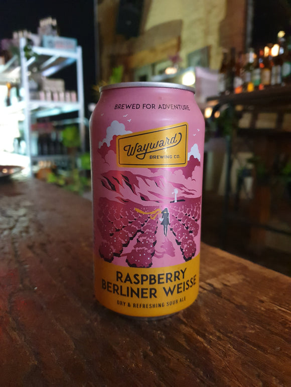 Wayward Raspberry Berliner Weisse Can 375ml 3.8%