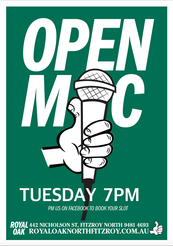 OPEN MIC - Royal Oak ONLINE  LIVE - Tuesday Aug 11