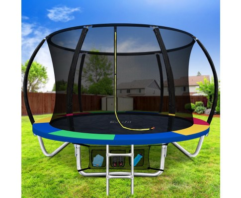 8FT Kids Round Enclosed Trampoline
