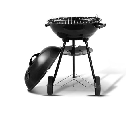Grillz Charcoal BBQ Smoker Outdoor Camping Patio Barbeque Steel Oven