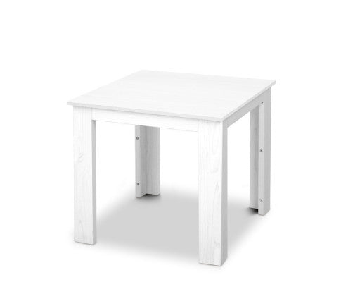 Outdoor Side Beach Table - White or Natural